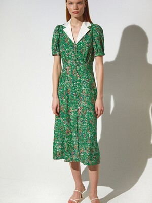 Floral Cuban Dress_Green