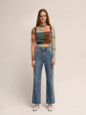 LEUNI STRAIGHT JEANS(BLUE)