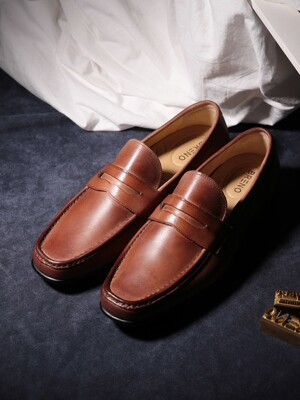 Penny Loafer Soft Brown Driving#0110