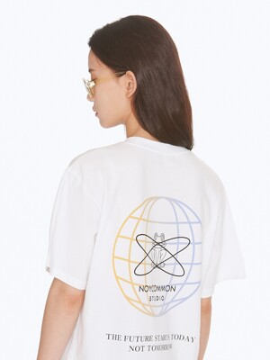 GRADATION PLANET TEE WH