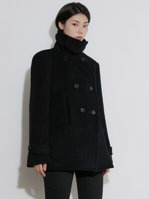 FLU PEA COAT BLACK