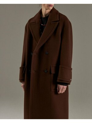 BROWN OVERSIZED DOUBLE COAT