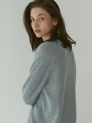 Linen Slub Sweater (Blue)