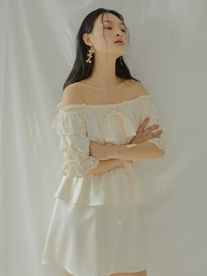 Rose Blanch Dress[Ivory]