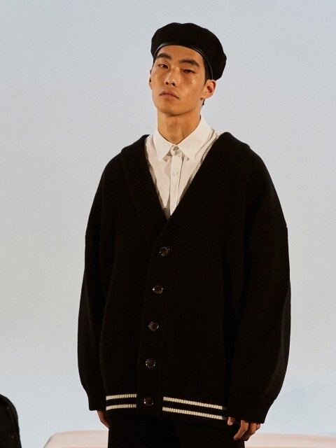 Classic Wool Cardigan Jacket_ black