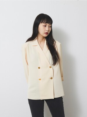 RETRO BUTTON BLOUSE / IVORY