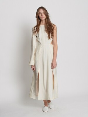 One Shoulder Dress(Antique White)