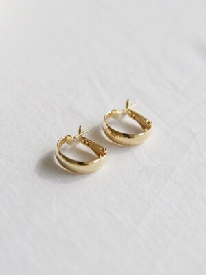 classic ring earrings (2colors) 小