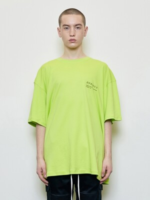 Oversized 'Visible' T-shirt Neon