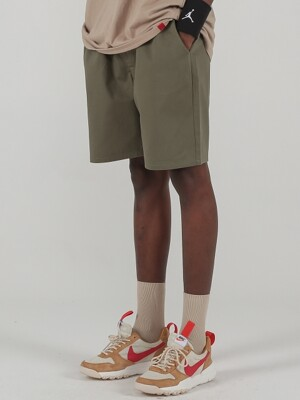 VIVID COTTON SHORT PANTS (KHAKI)