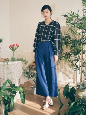 Wide Pin Pants : Blue