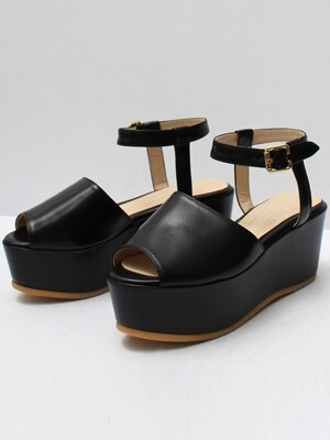 [WOMEN] Peep Toe Sandal R16h075 (Black)