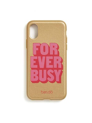 LEATHERETTE IPHONE X CASE - FOREVER BUSY 아이폰케이스