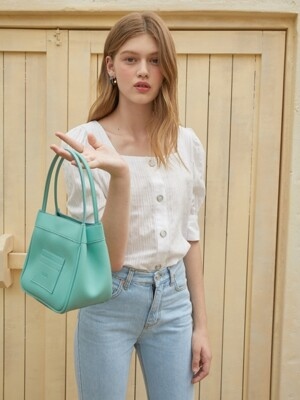Mini card bucket bag - Mint