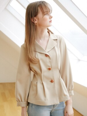 2way Woody Blouse_Latte