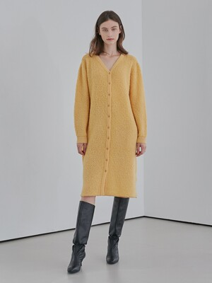 A WOOL KNIT LONG CD_YELLOW