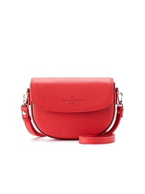half-moon cross bag (red) - D1017RE