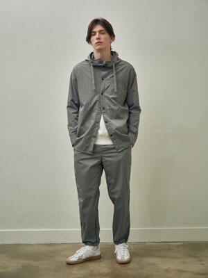 Woven Hoodie Jacket Set Up_Gray