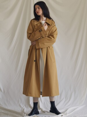 ES OVER TRENCH COAT(BEIGE)
