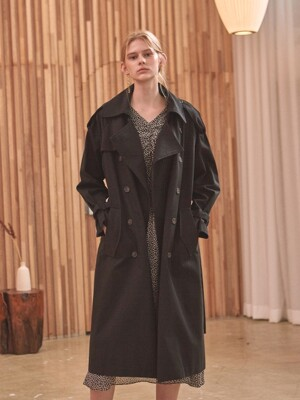 VIVIAN DOUBLE TRENCH COAT_BLACK