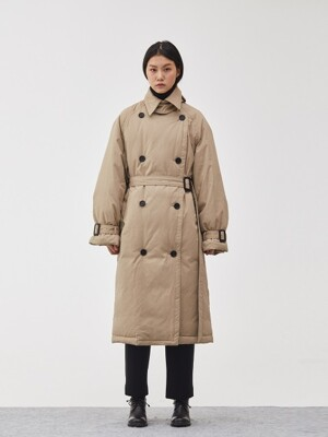 [제인송 WHITE] OVERFIT GOOSE DOWN TRENCH COAT_BE