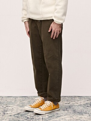 19 WINTER HIGH BANDING PANTS - KHAKI