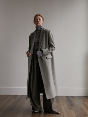 Panel wool coat - Kaki