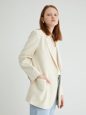 20' SPRING_Antique Ivory Tailored Jacket