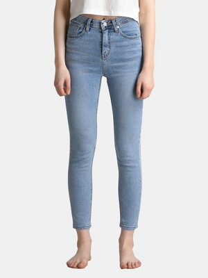 W7 Cutting Skinny Denim Pants_Light Blue