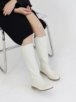 Y mid-long boots_ivory_20501