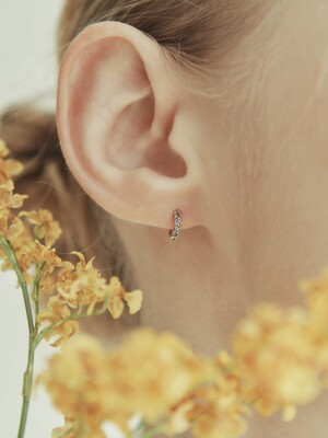 [단독] 14k gold Blue topaz stone mini onetouch earring (14k 골드) b08
