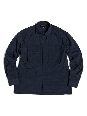 M65 SHIRT JACKET / BLACK & NAVY CHECK