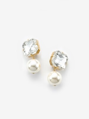 bold crystal pearl earrings