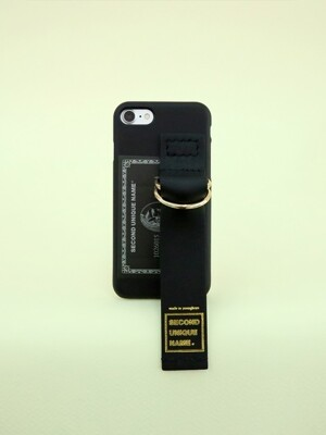 SUN CASE LEATHER CARD BLACK