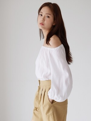 OFFSHOULDER TWO-WAY BLOUSE_WH