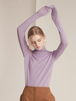 Cashmere Blended 16Gaze Pullover Knitwear - Light Purple
