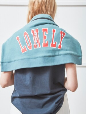 LONELY/LOVELY JERSEY MESSENGER BAG BLUE