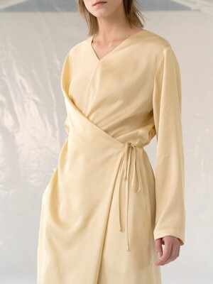 19LE silky wrap onepiece (yellow)