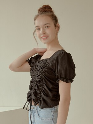 love Shirring blouse[Black]