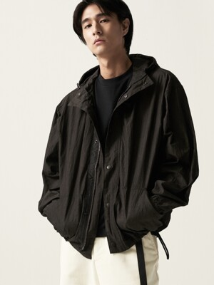 Fiber Hood Zip-Up jacket Black
