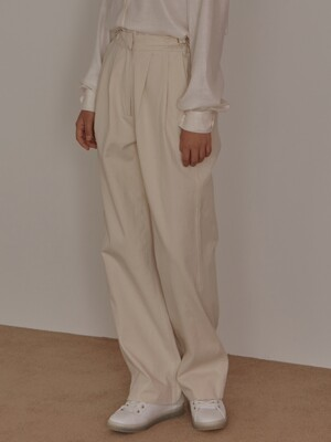 19f premium cotton pants_ivory