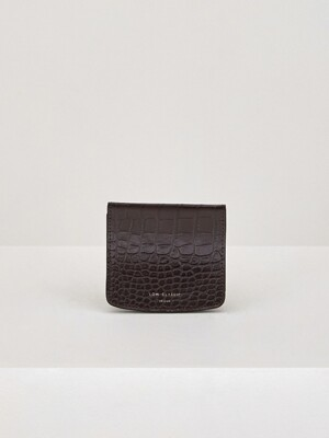 20SS STRAP WALLET - DARK BROWN
