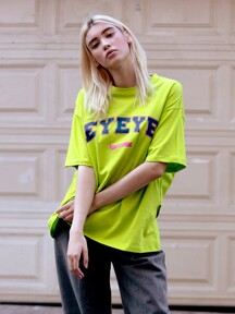 [4/2예약] EYEYE BASIC LOGO COTTON T-SHIRT_LIME (EETZ2RSR04W)