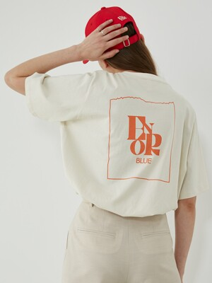 ENOR GRAPHIC T-SHIRT - BEIGE