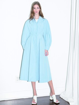 [20SS]DOWNTOWN LA  voluminous sleeve dress (LA Sky blue)