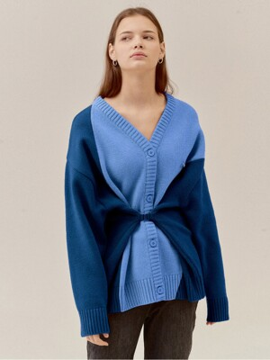 COLOR COMBINATION DEFORMABLE WAIST WOOL CD_D/BLUE (EETZ3CDR04W)