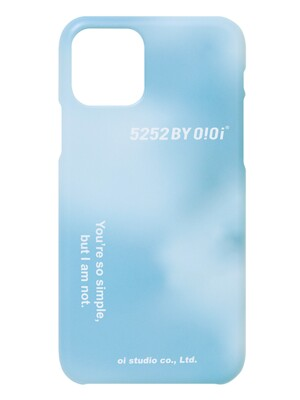 5252 LETTERING PHONE CASE [TIEDYE BLUE]