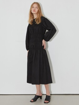 Smock Detailed Long Dress