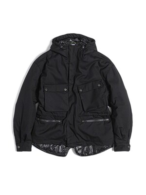 LAYERED RIDER PARKA / BLACK