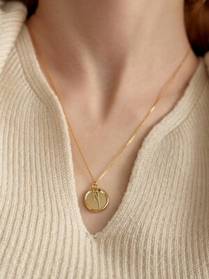 leeENoir Logo Coin Necklace (2color)